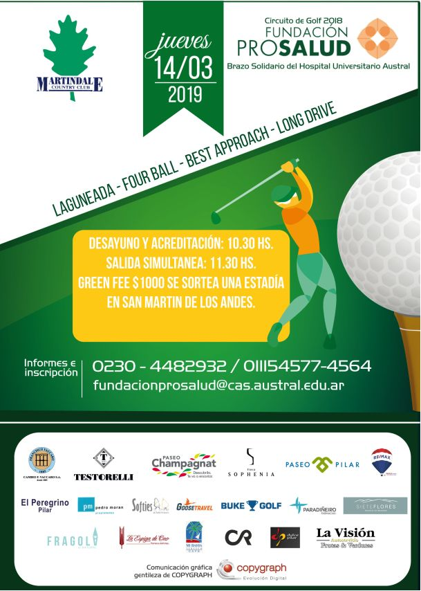 Vuelve el torneo de golf de PROSALUD